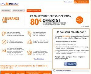 redirection automatique vers ING DIRECT VIE